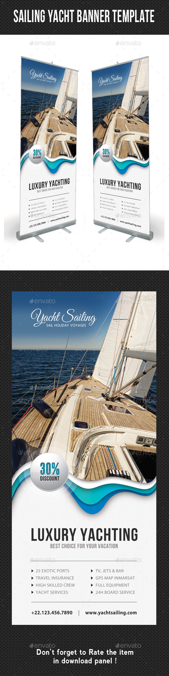Sailing Yacht Banner Template 07 - Signage Print Templates