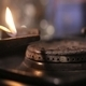 Gas Stove Flame Ignited by a Match - VideoHive Item for Sale