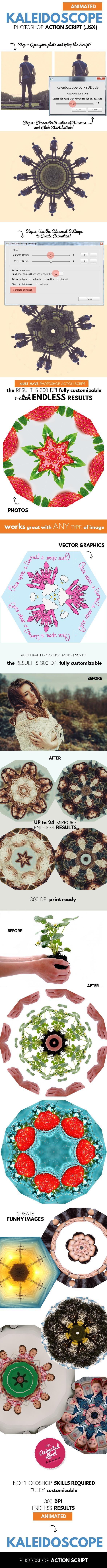 Animated Kaleidoscope Photoshop Tool