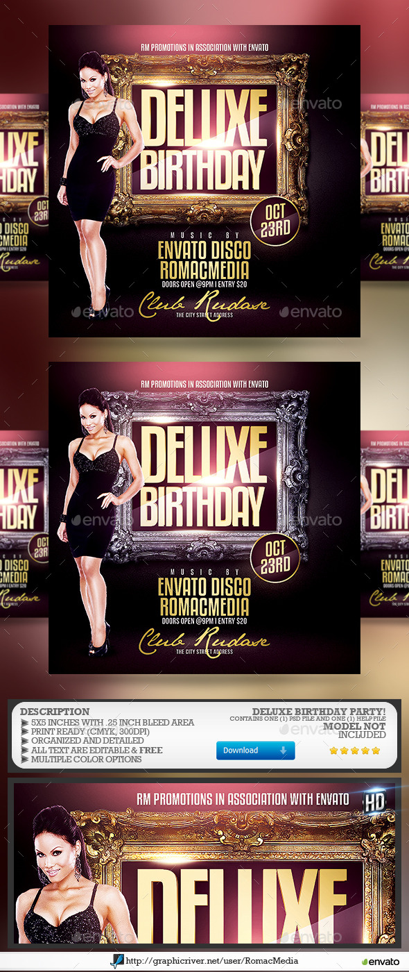 Deluxe Birthday Party - Clubs & Parties Events