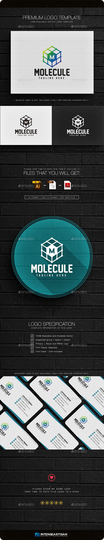 Molecule Letter M Logo