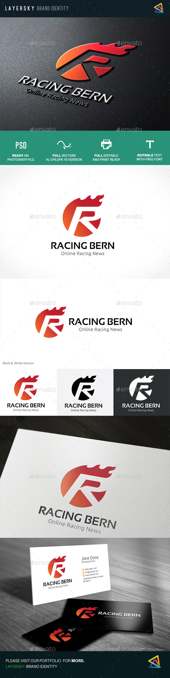 Racing Bern  - Letters Logo Templates