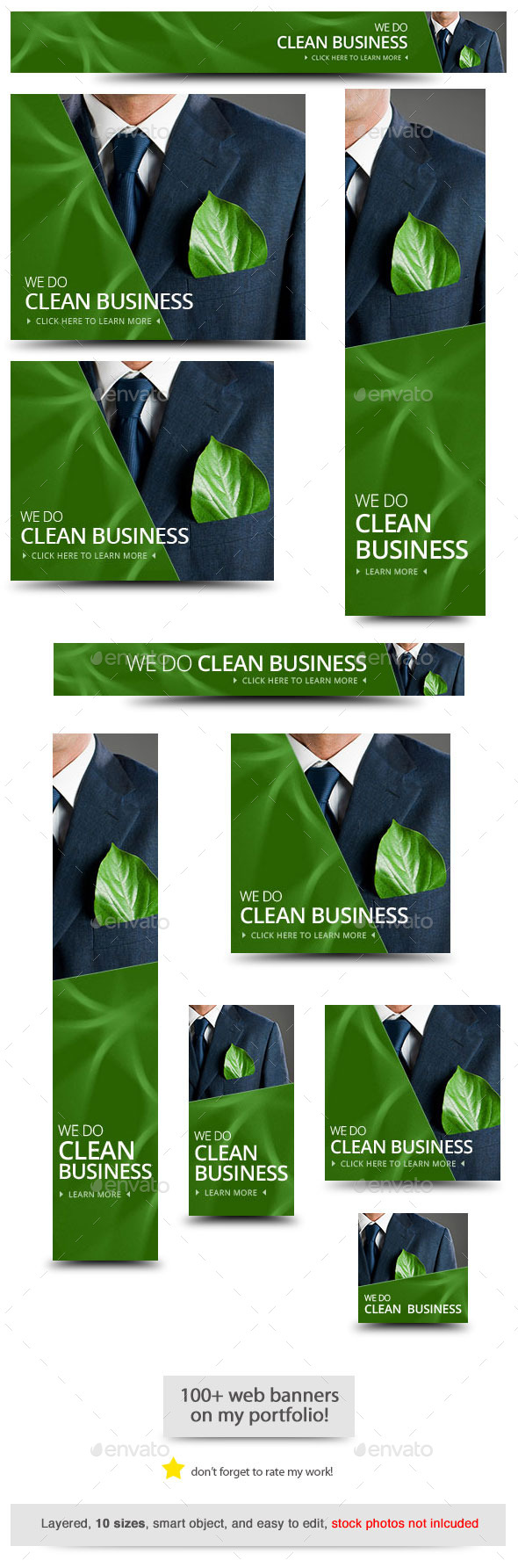 Green Business Web Banner Template - Banners & Ads Web Elements