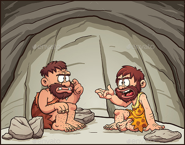 Cartoon Cavemen - People Characters