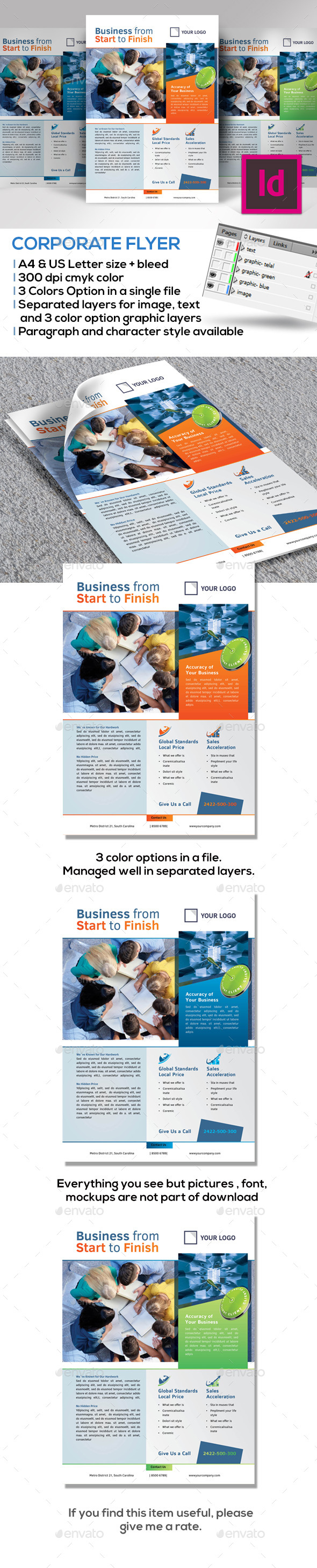 Modern Flyer A4 & uS Letter - Corporate Flyers