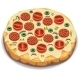 Italian Pizza with Tomato and Sausage - GraphicRiver Item for Sale