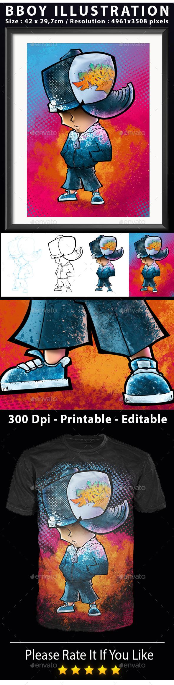 Illustration Bboy - Characters Illustrations