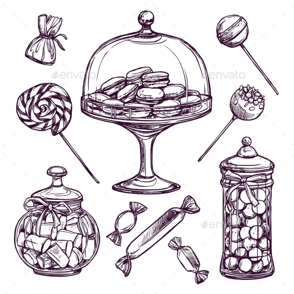 Candy Sketch Set - Food Objects