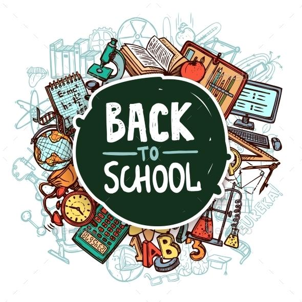 Back to School Concept - Miscellaneous Vectors