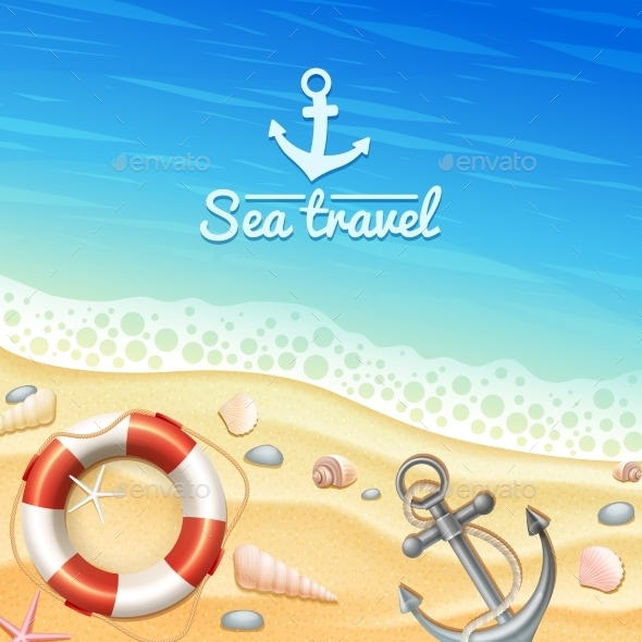Marine Realistic Background  - Travel Conceptual