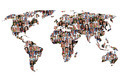 World map earth multicultural group of people integration diversity - PhotoDune Item for Sale