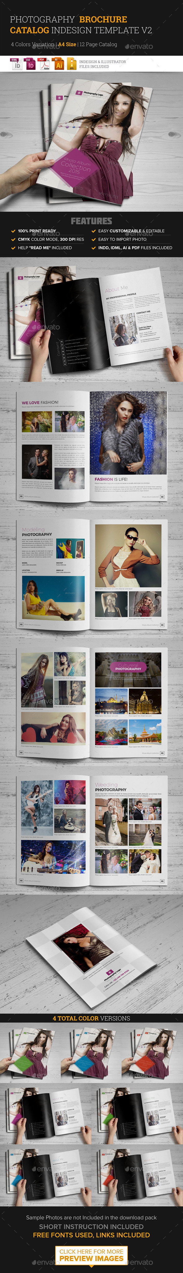 Photography Brochure Catalog InDesign Template v2