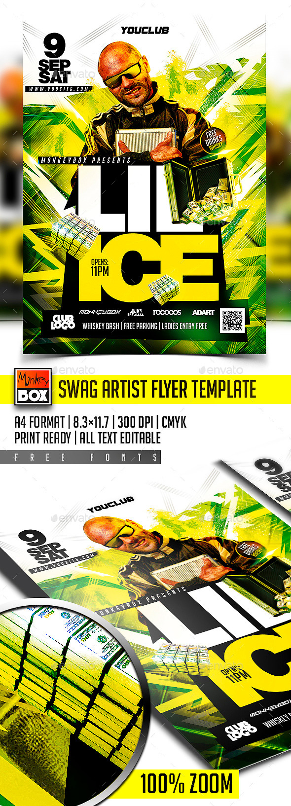 Swag Artist Flyer Template