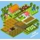 Farm Complex Isometric Blocks Composition - GraphicRiver Item for Sale