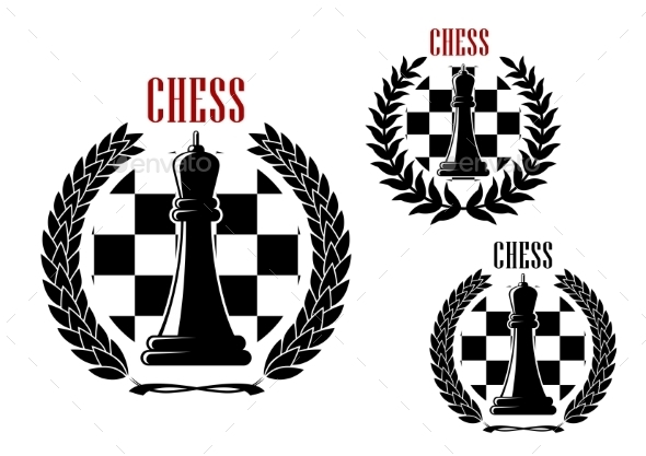 Chess Icons With Black Queens - Sports/Activity Conceptual