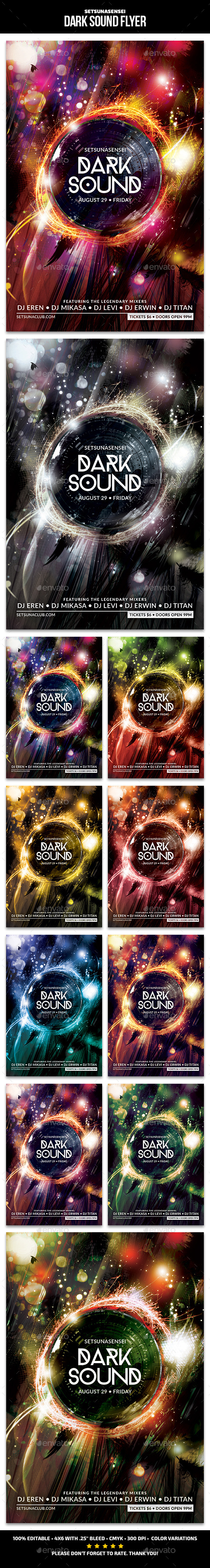Dark Sound Flyer - Clubs & Parties Events
