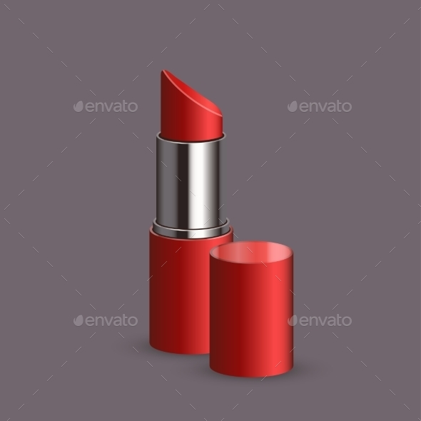 Vector Modern Lipstick Set  - Decorative Symbols Decorative