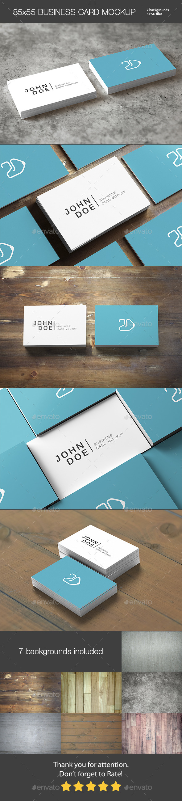 85x55 Business Card Mockup - Business Cards Print