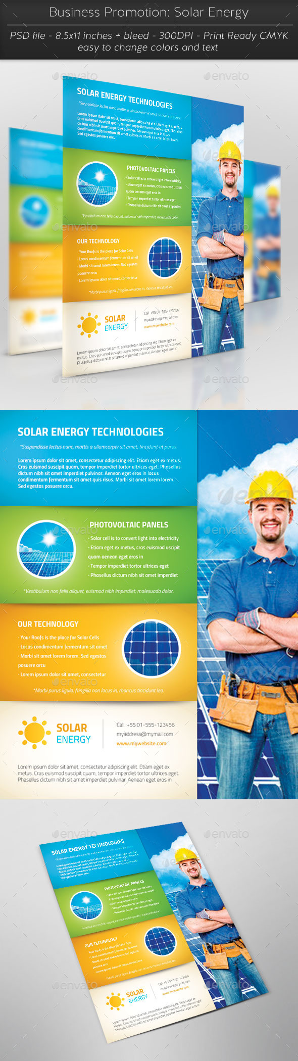Business Promotion: Solar Energy - Flyers Print Templates