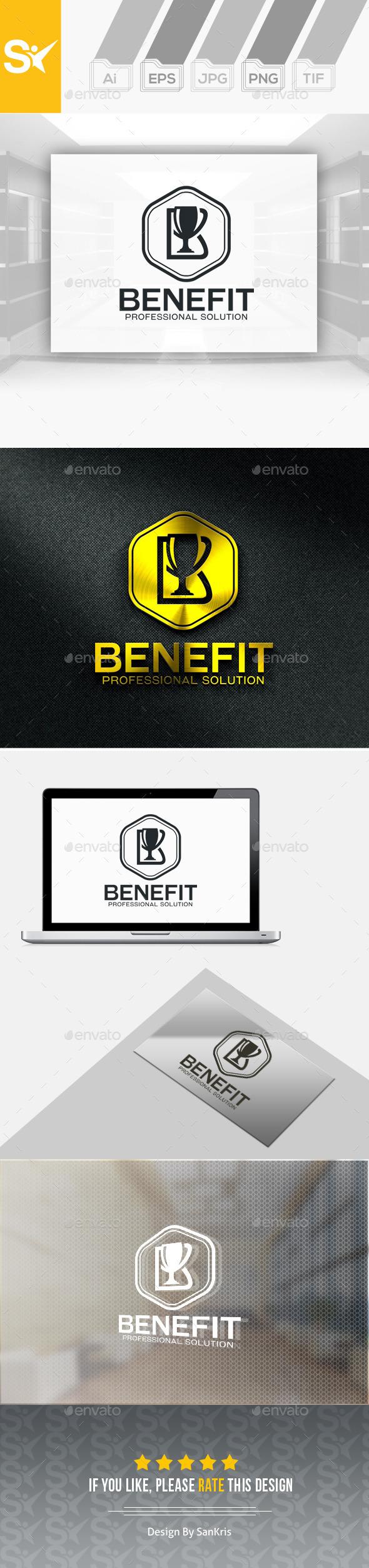 Benefit Pro Logo B letter