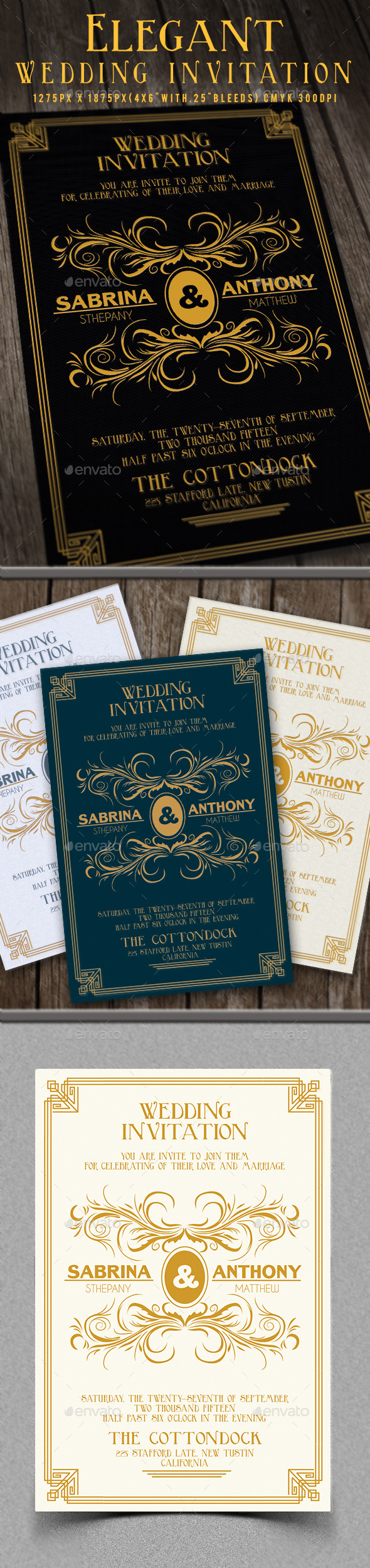 Elegant Wedding Invitation - Invitations Cards & Invites
