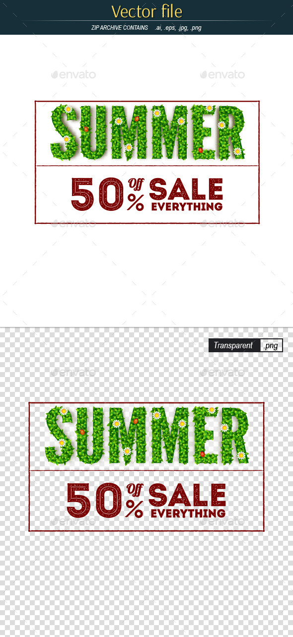 Summer Sale Advertising Banner - Commercial / Shopping Conceptual