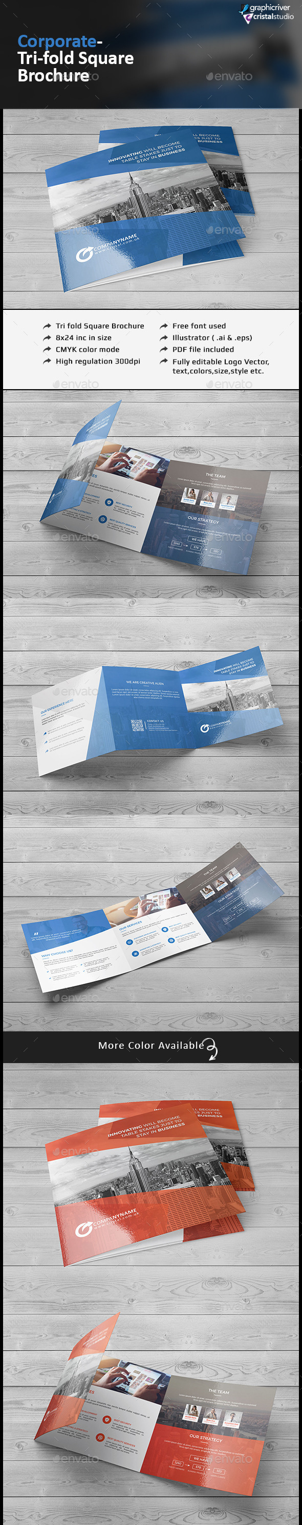 Tri fold Square Brochure - Corporate Brochures