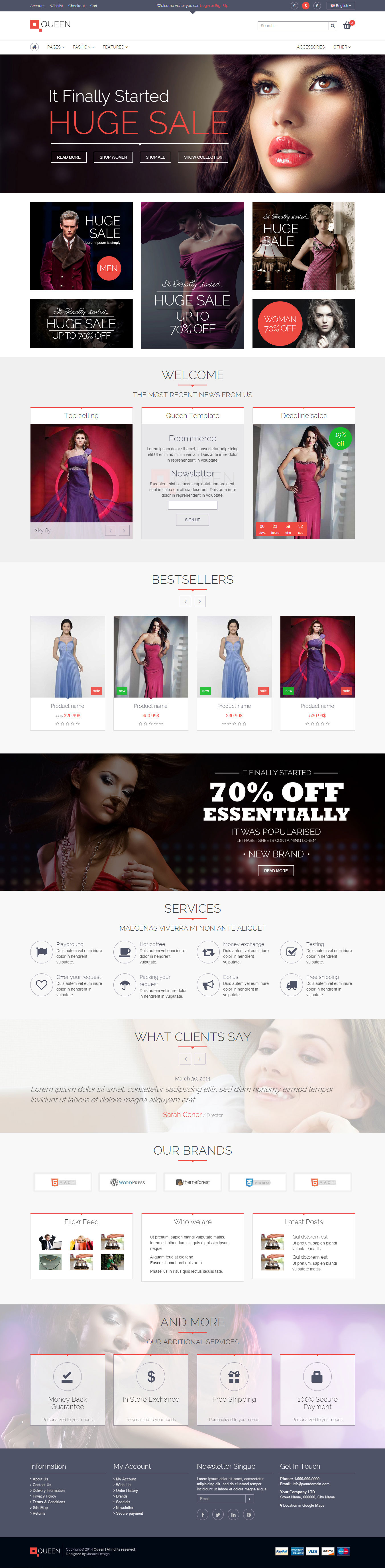 Queen - Responsive E-Commerce Template v 1.4 by MosaicDesign ...