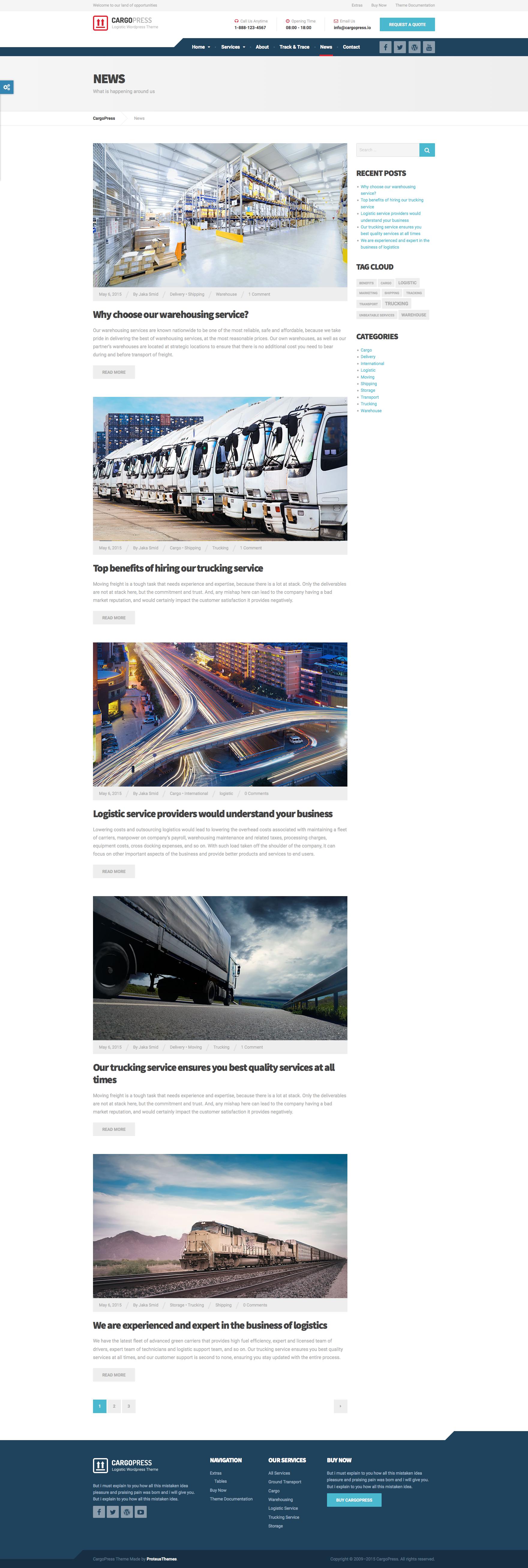 Cargopress logistic warehouse transport html