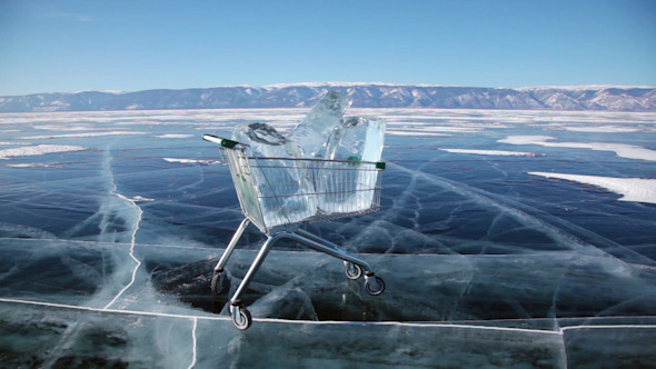 Shopping Cart With Ice Cubes 3398