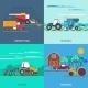 Farming Machines Icons Set  - GraphicRiver Item for Sale