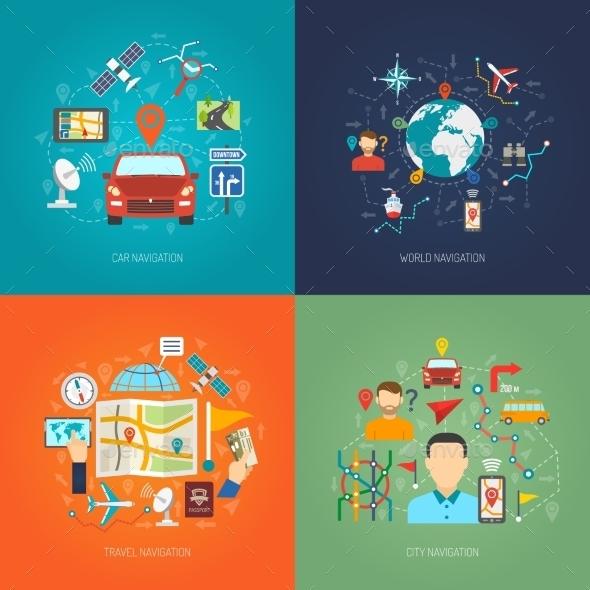 Map Design Concept - Technology Conceptual