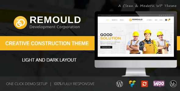 Remould   Construction & Building WordPress Theme