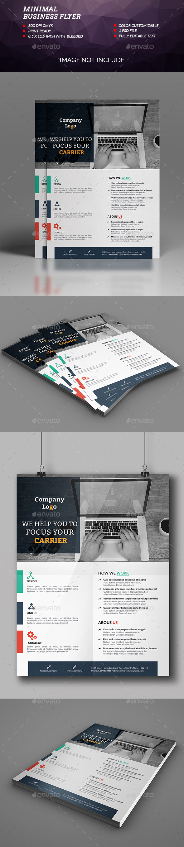 Minimal Business Flyer - Flyers Print Templates