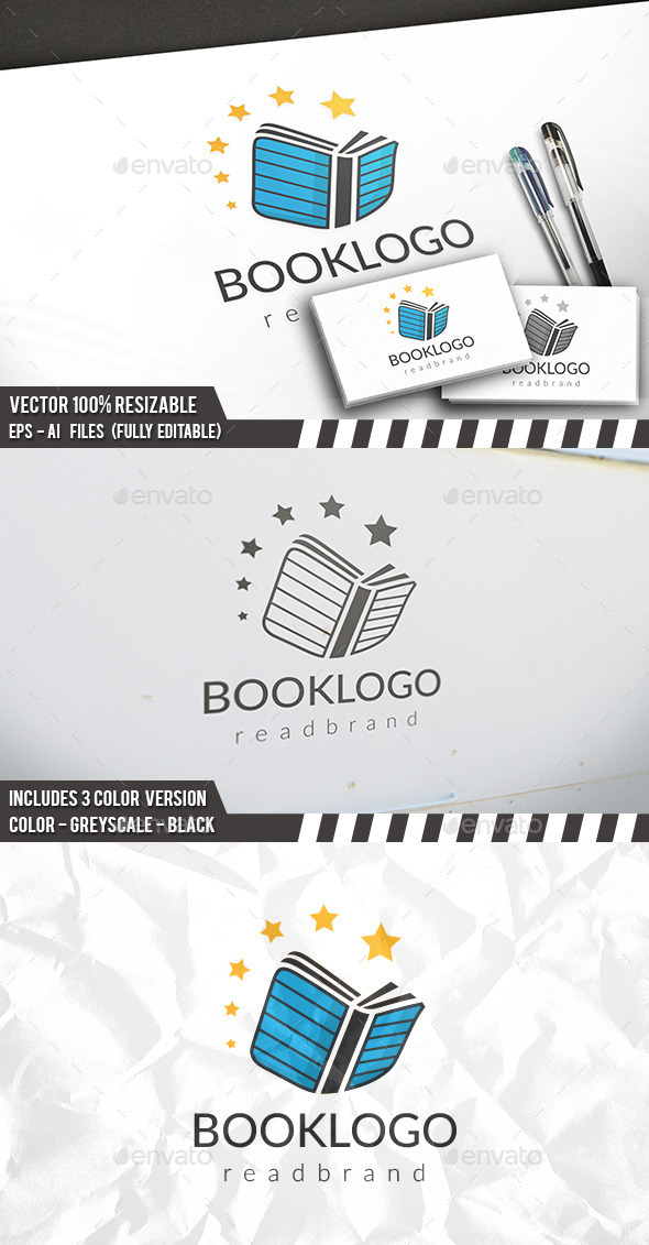 Book Logo - Objects Logo Templates
