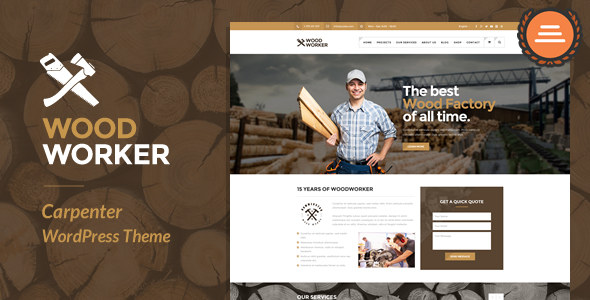 WoodWorker – Carpentry WordPress Theme