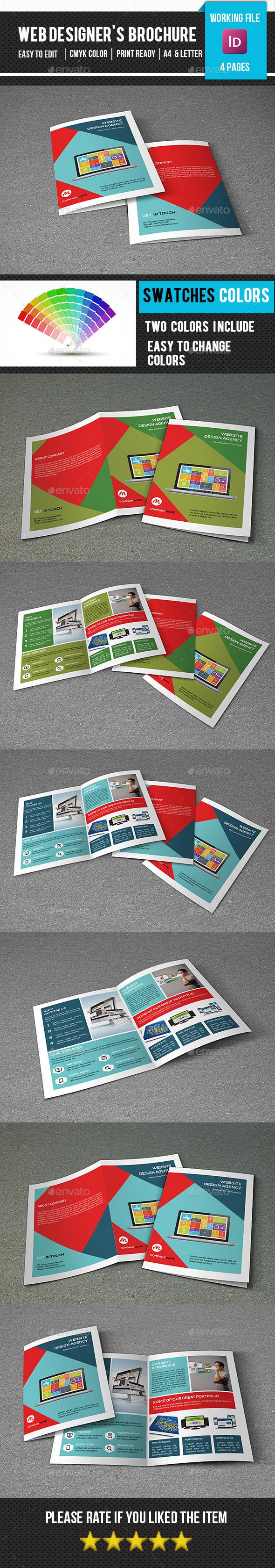 Bifold Brochure for Web Designer-V302 - Corporate Brochures