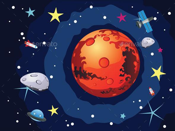 Mars Planet - Nature Conceptual