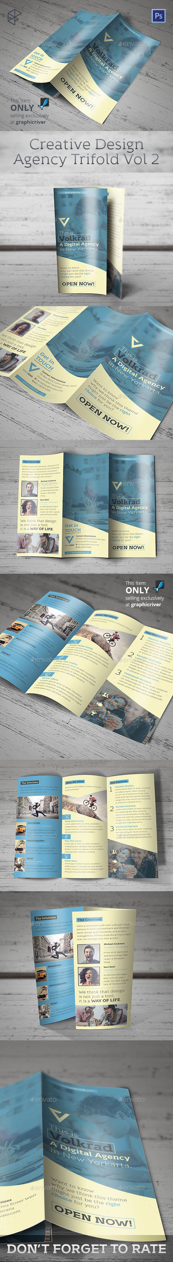 Creative Design Agency Trifold Vol 2 - Corporate Brochures