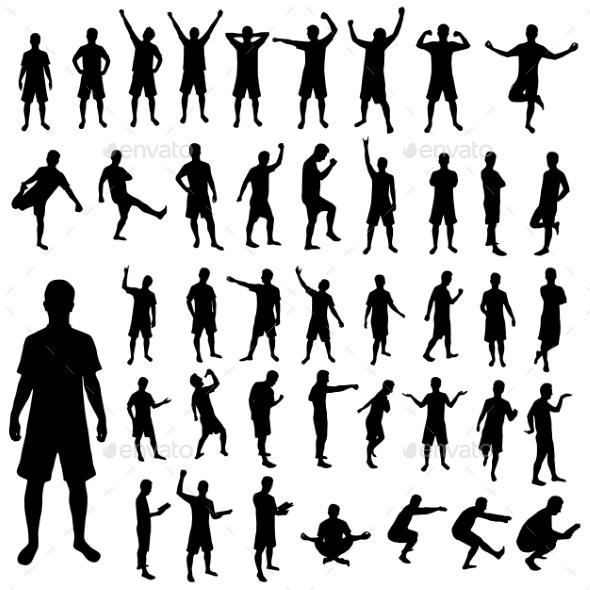 Pose Silhouette Set - Sports/Activity Conceptual