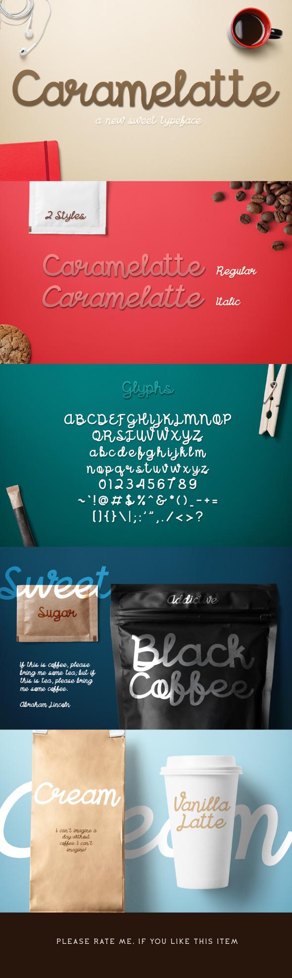Caramelatte - Script Fonts