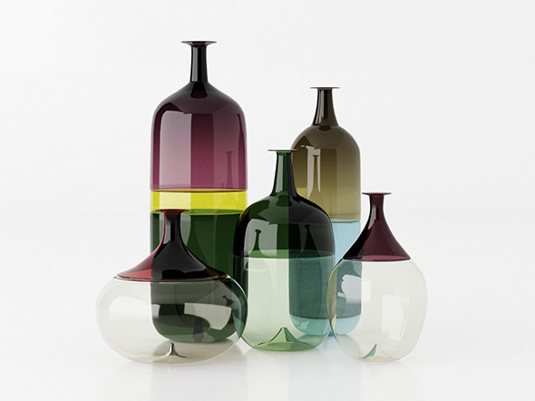 """Le Bolle"" Venini vases - 3DOcean Item for Sale"