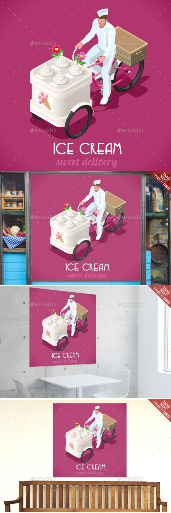 Icecream Man People Isometric - People Characters