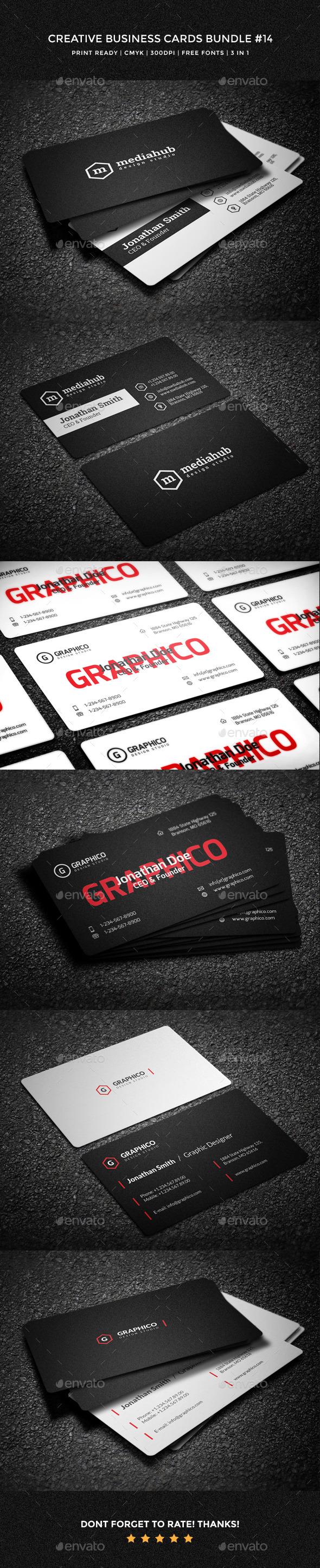 Creative Business Cards Bundle - 14 - Creative Business Cards