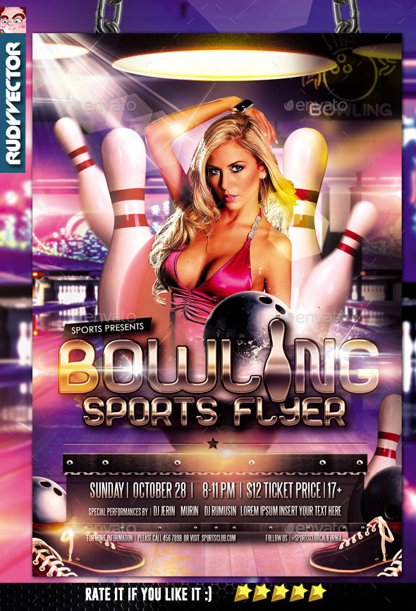Bowling Sports Flyer - Sports Events