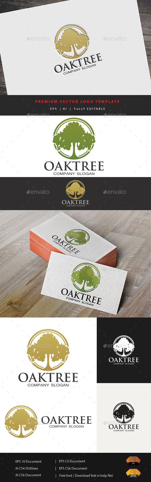 Oak Tree Logo - Nature Logo Templates
