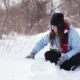 Girl Playing With Snow - VideoHive Item for Sale