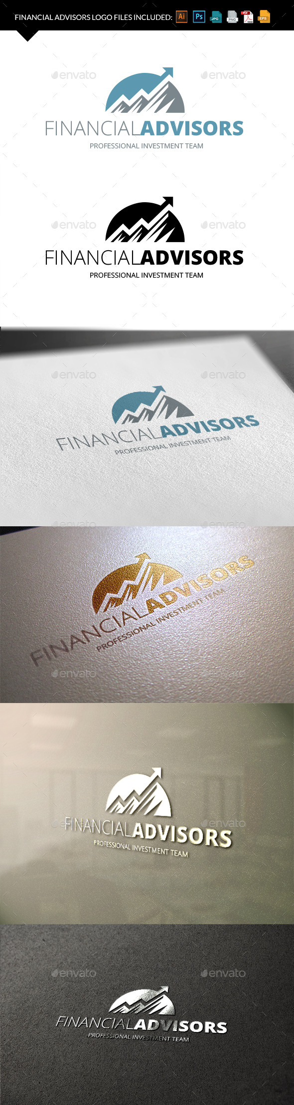 Financial Logo - Vector Abstract