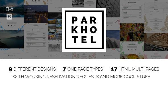 Parkhotel - Accommodation Multiple Designs HTML - Travel Retail