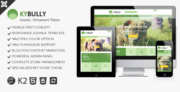 Kybully- Mobile First Joomla Virtuemart Theme - Shopping Retail